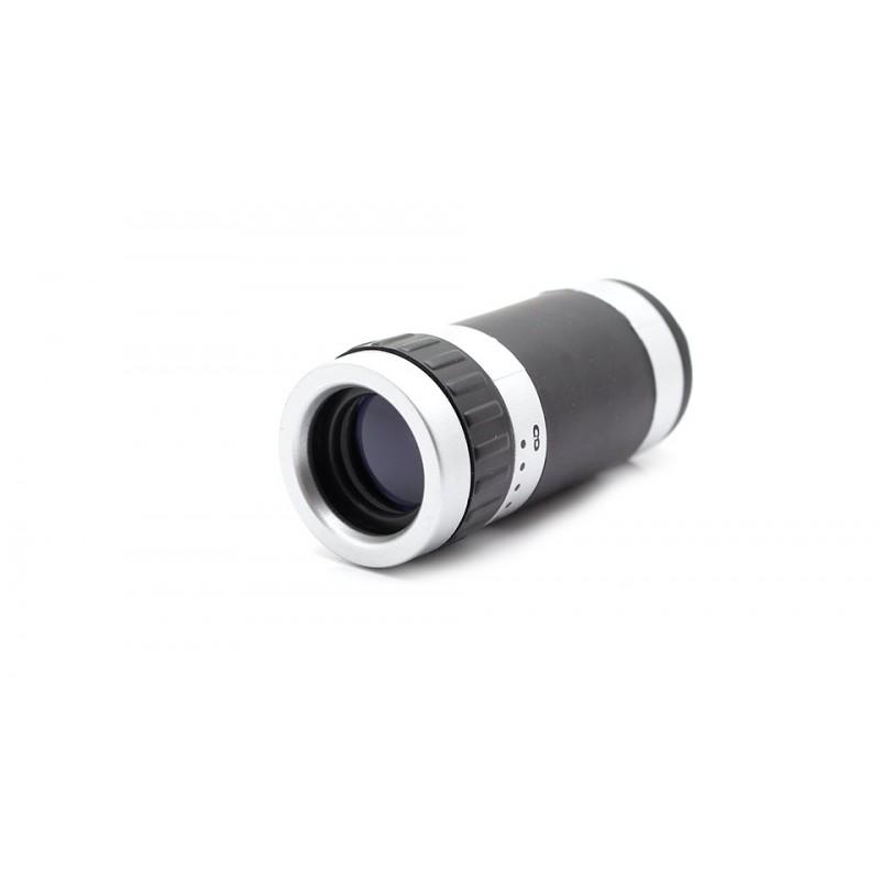 Mini 8X Zoom Optical Lens Telescope w/ Plastic Back Case for Apple iPhone 4/4S