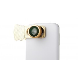 Universal 3-in-1 Clip-On Fisheye + Wide Angle + Macro Lens for Cellphones