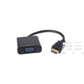 HDMI Male to VGA Female Adapter Cable (Black)