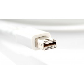 Mini DisplayPort Male to DVI 24+1 Male Adapter Cable - White (180cm)