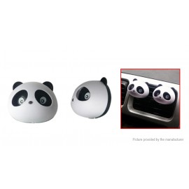 Panda Styled Car Vent Air Fresher Solid Perfume (Pair)