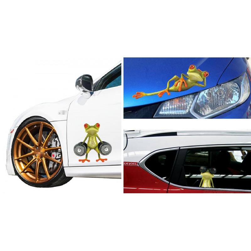 Authentic Lansiya 3D Frog Styled 3M Car Decoration Sticker