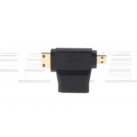 3-in-1 HDMI Female to Mini HDMI + Micro HDMI Male Adapter